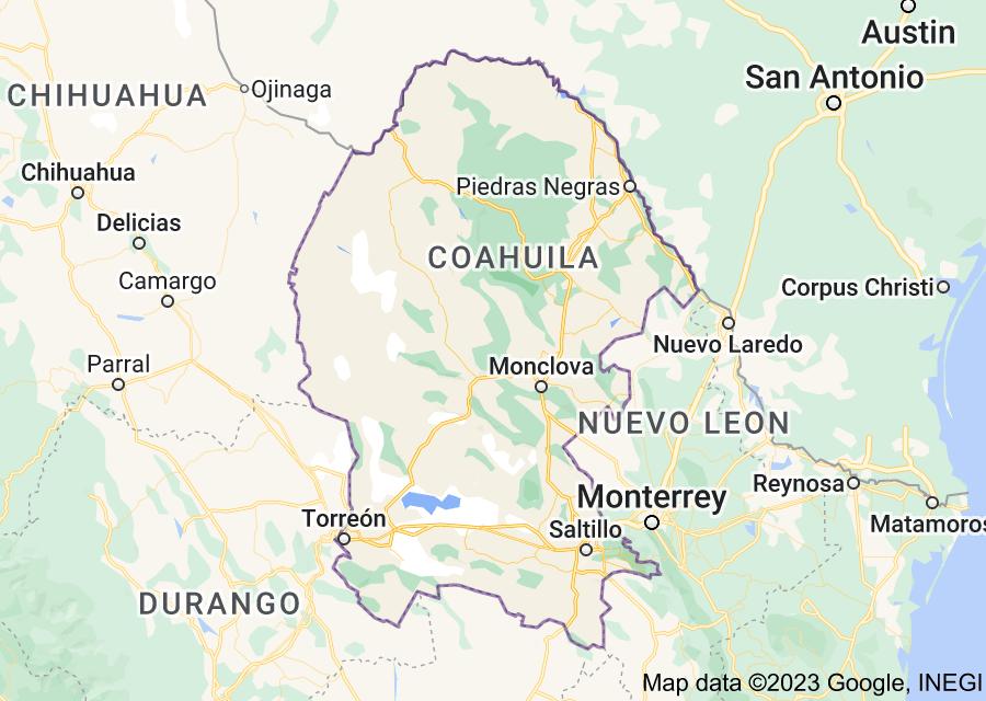 Location of Coahuila