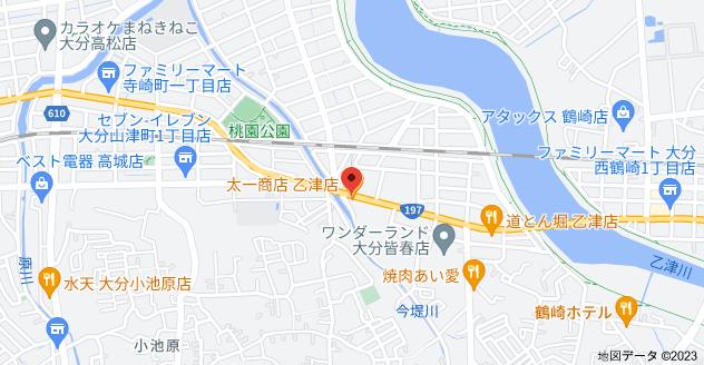 太一商店 乙津店の地図