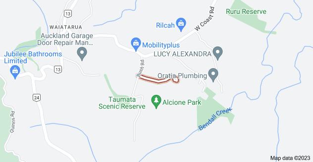 Location of Atarua Gardens