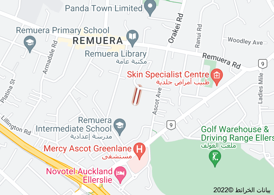 Location of Muir Road