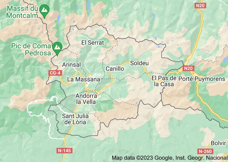 Location of Andorra
