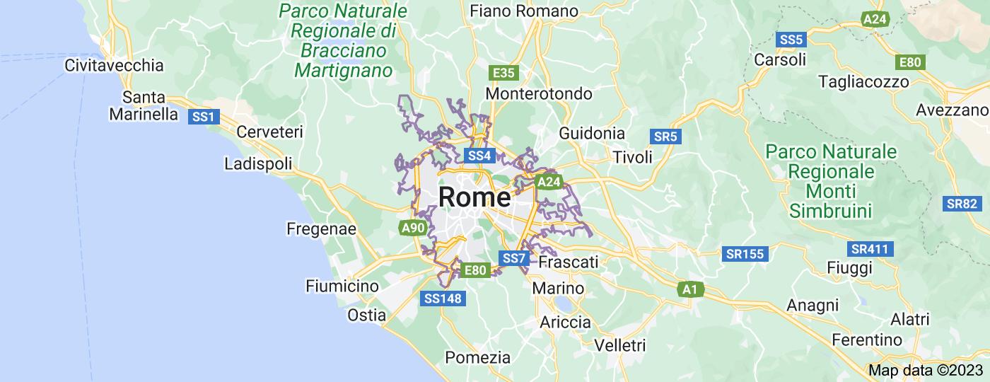 Location of Rome