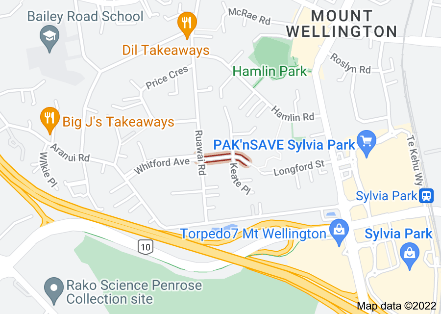 Location of Rayma Place