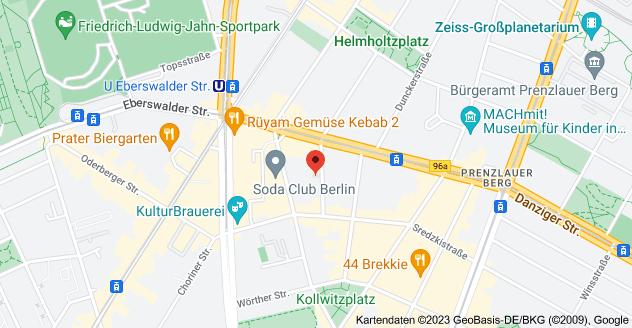 Karte von Hagenauer Str. 14, 10435 Berlin