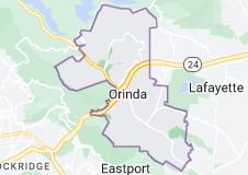 Map of Orinda