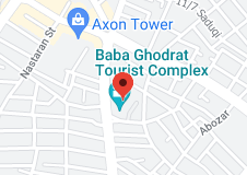 Map of Baba Ghodrat Tourist Complex