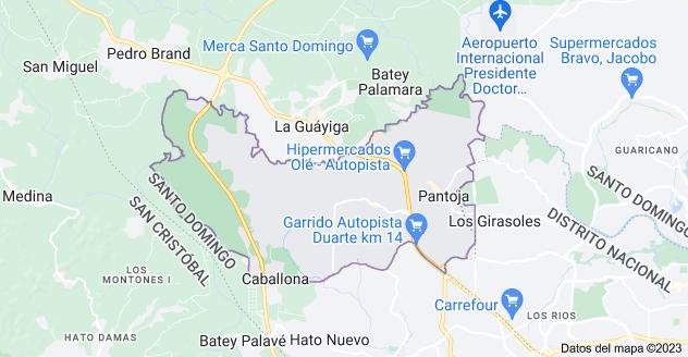 Mapa de Los Alcarrizos