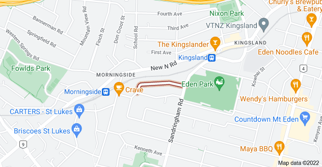 Location of Rossmay Terrace