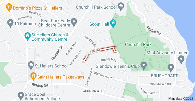 Location of Athlone Road