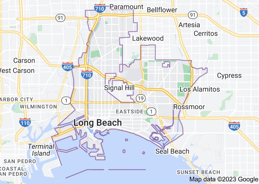 Location of Long Beach