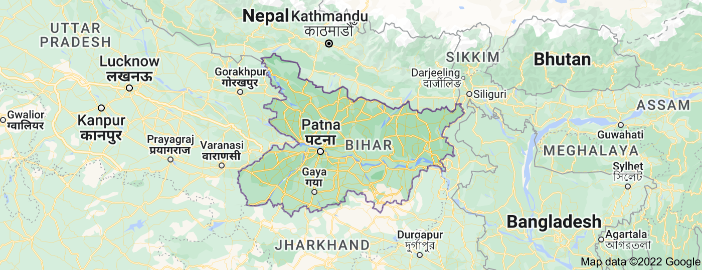 Location of Bihar