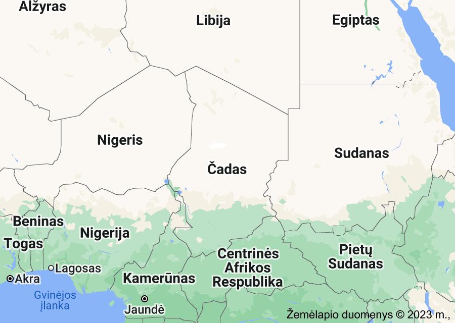 Location of Čadas
