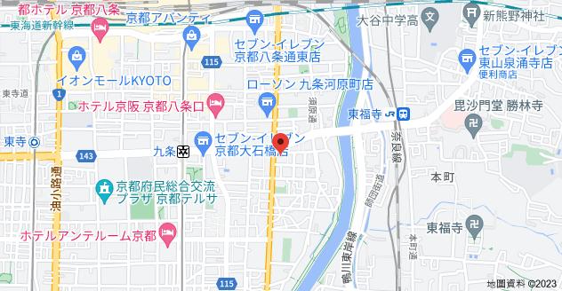 日本〒601-8021 Kyōto-fu, Kyōto-shi, Minami-ku, Higashikujō Ukabechō, 2-1 ライオンズマンション京都河原町第3地圖