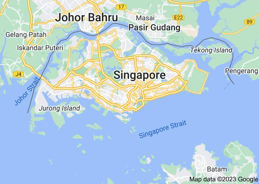 Location of Singapore