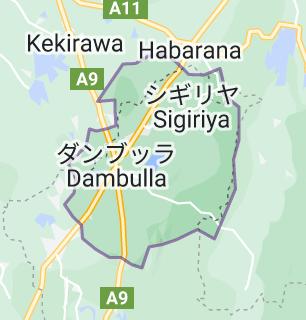 ダンブッラの地図