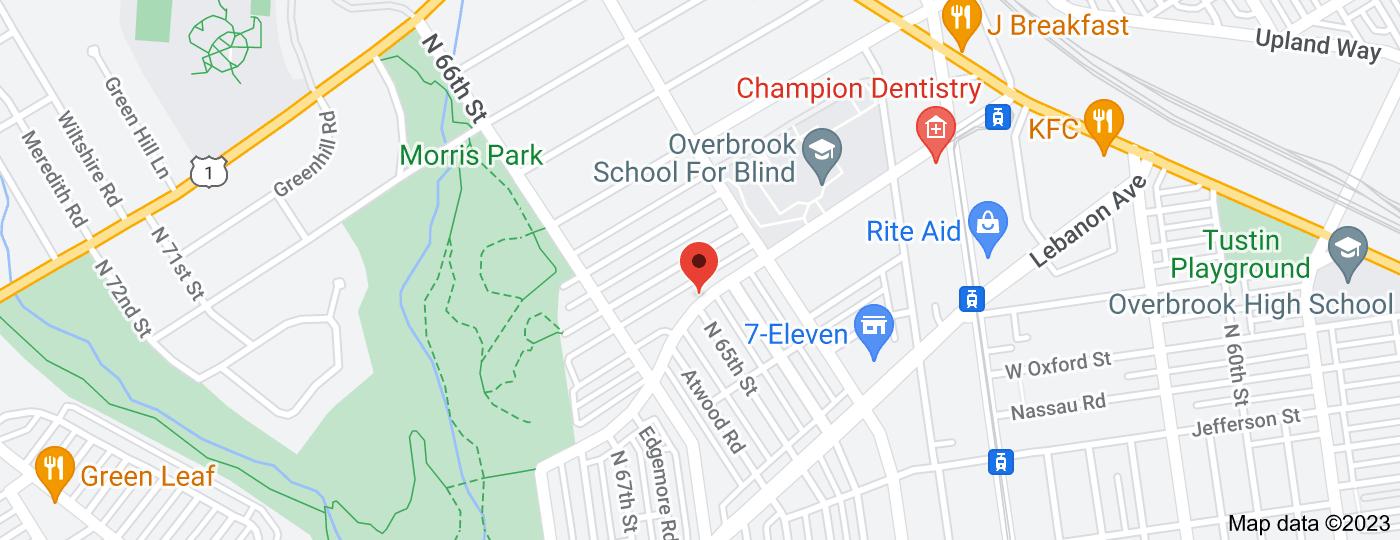 Location of Malvern Av & 65th St