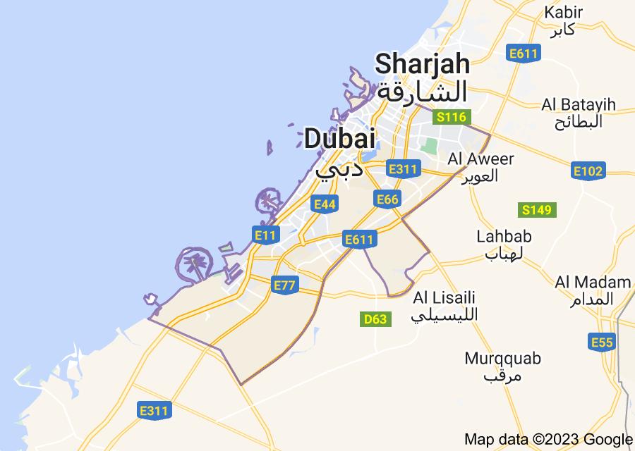 Location of Dubai