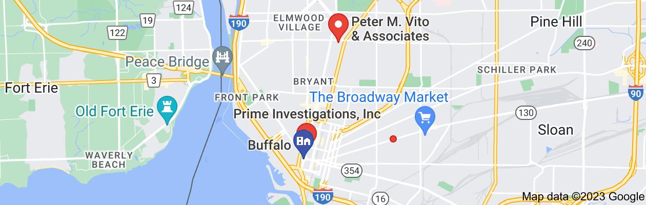 Map of private investigator buffalo new york