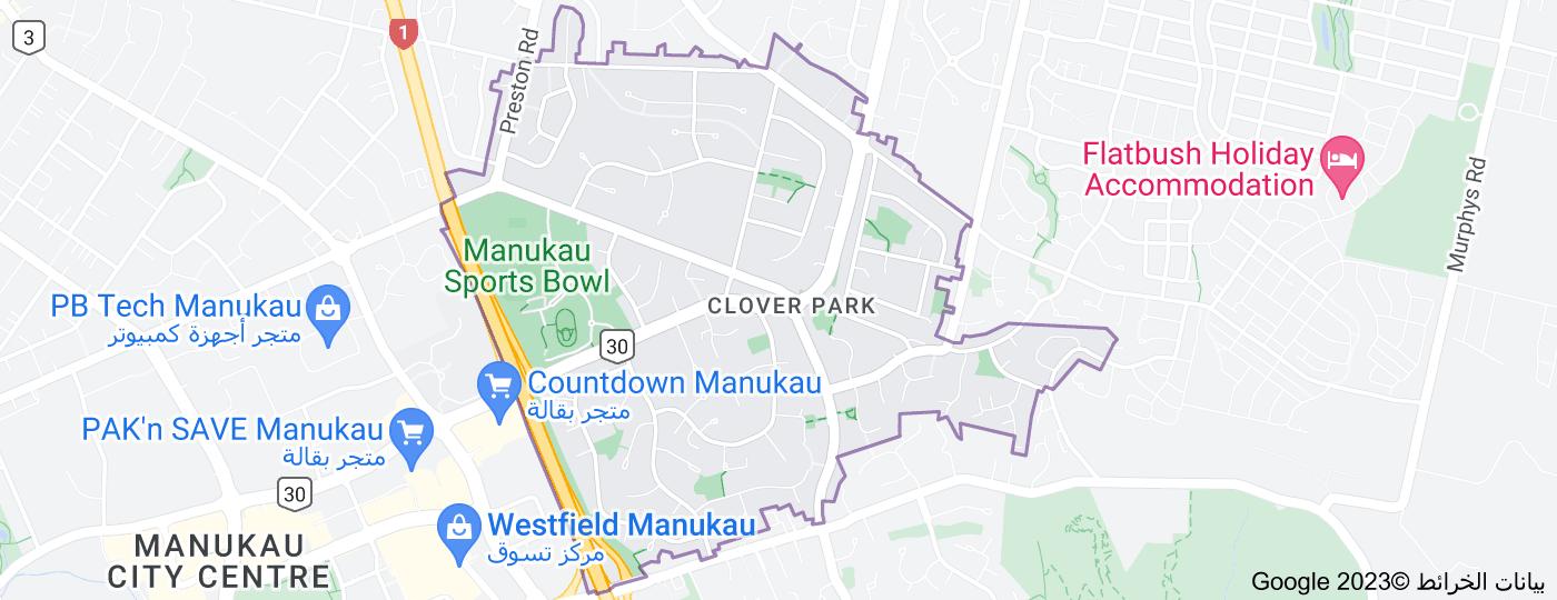 Location of Clover Park