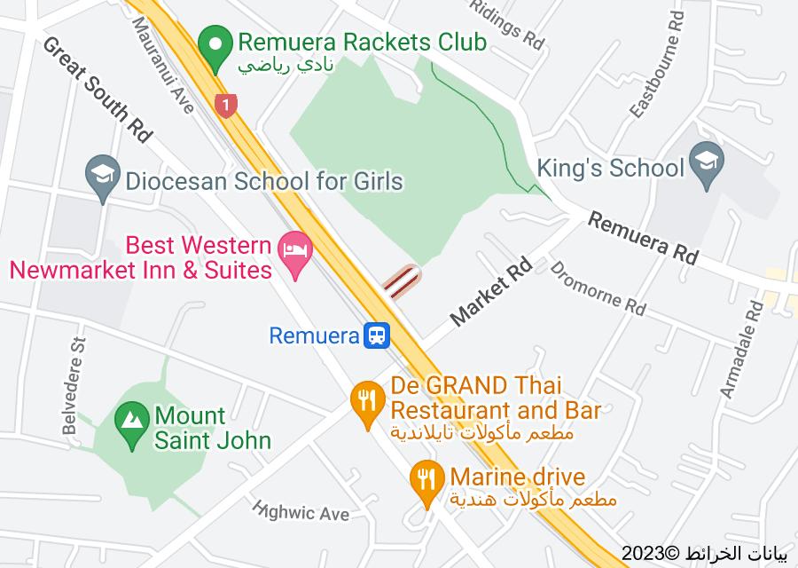 Location of Mount Hobson Lane