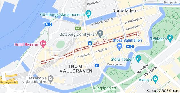 Kort over Kungsgatan, Göteborg, Sverige