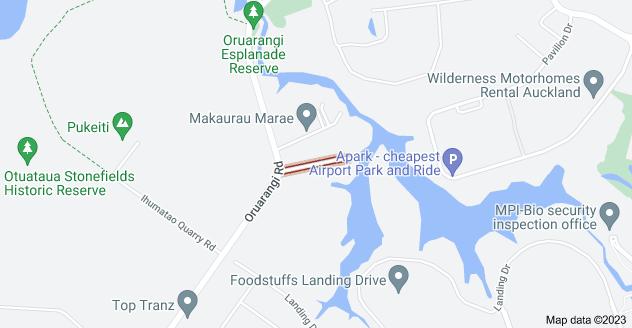 Location of Waipouri Road
