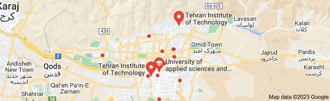 Map of دوره های آموزشی تهران