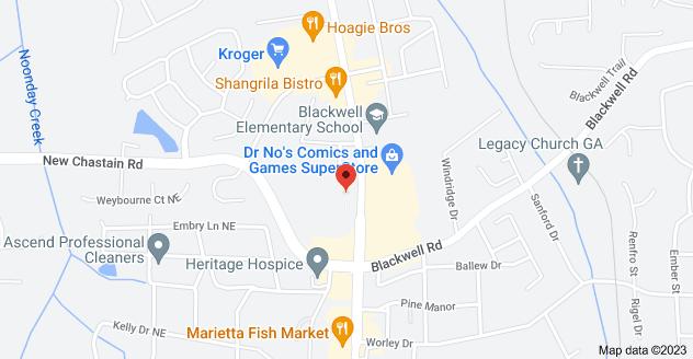 Map of 3417 Canton Rd, Marietta, GA 30066