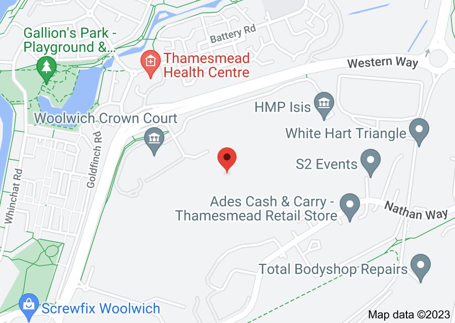 Location of HM Prison Belmarsh