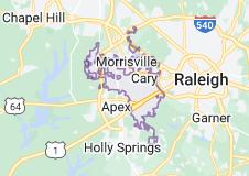 Map of Cary, North Carolina