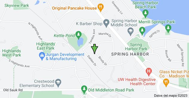 Mapa de 5437 Brody Dr, Madison, WI 53705