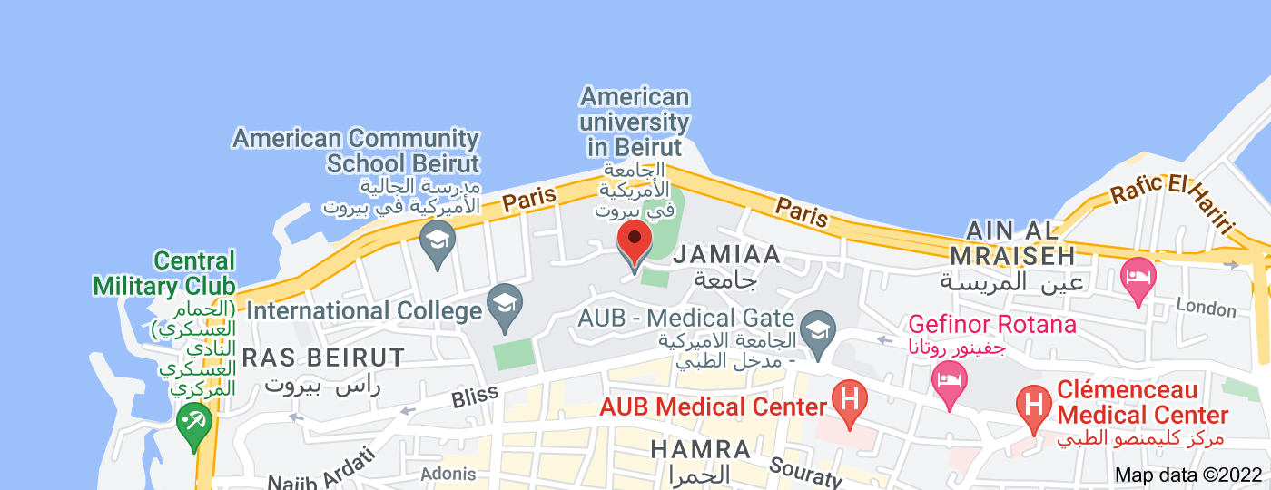 Location of American University of Beirut