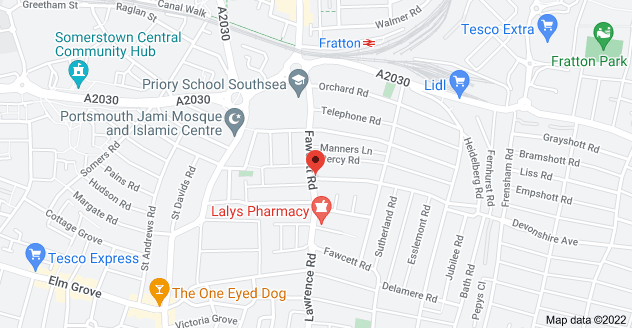 Map of 115 Fawcett Rd, Portsmouth, Southsea PO4 0DF