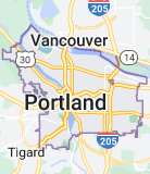 Map of Portland, Oregon