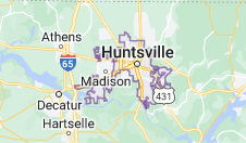 Map of Huntsville, Alabama