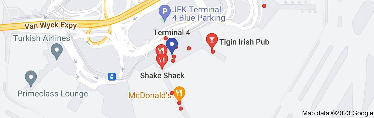 Map of all jfk terminal 4 restaurants