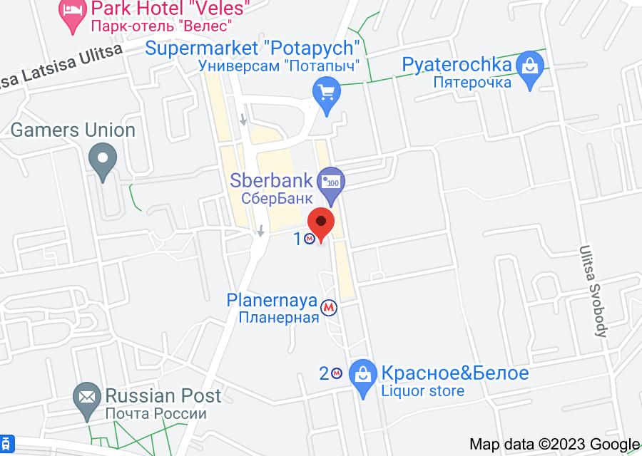 Location of Planernaya