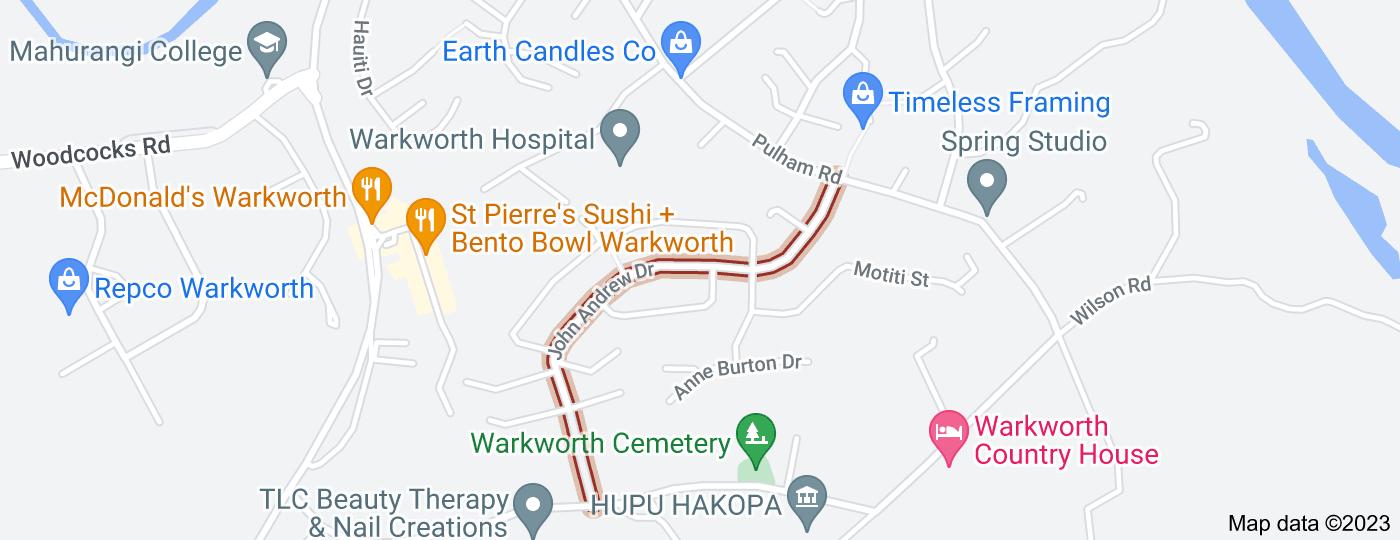 Location of John Andrew Drive