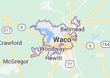 Map of Waco, Texas