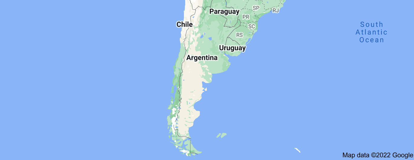 Location of Argentina