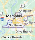 Map of Memphis