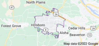 Map of Hillsboro, Oregon
