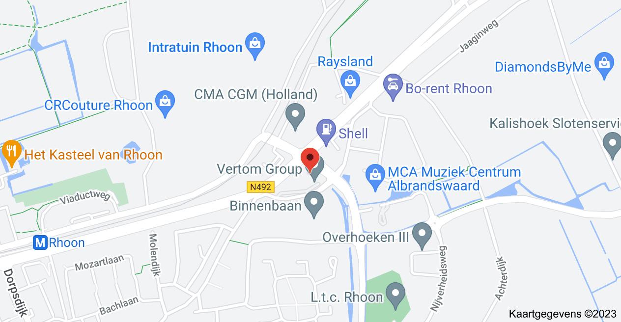 Kaart van Oever 7, 3161 GR Rhoon, Nederland