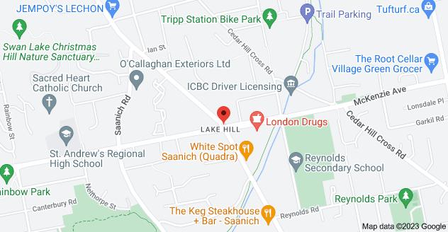 Map of McKenzie Ave & Quadra St, Victoria, BC