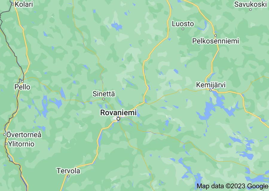 Location of Rovaniemi