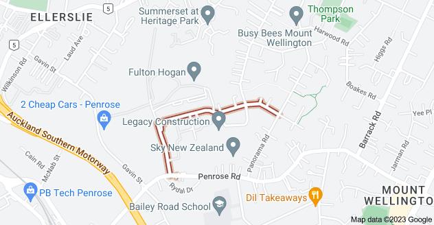 Location of Leonard Road