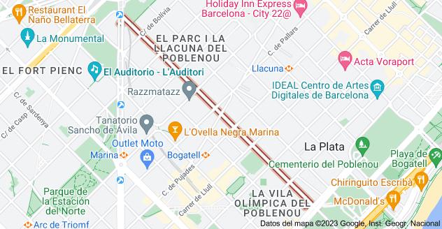 Mapa de Carrer d'Àlaba, Barcelona, España
