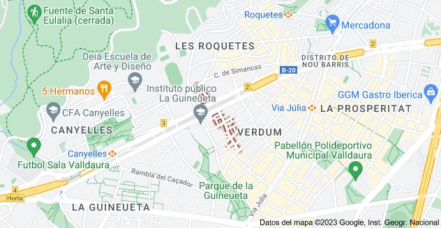 Mapa de Carrer d'Almagro, Barcelona, España