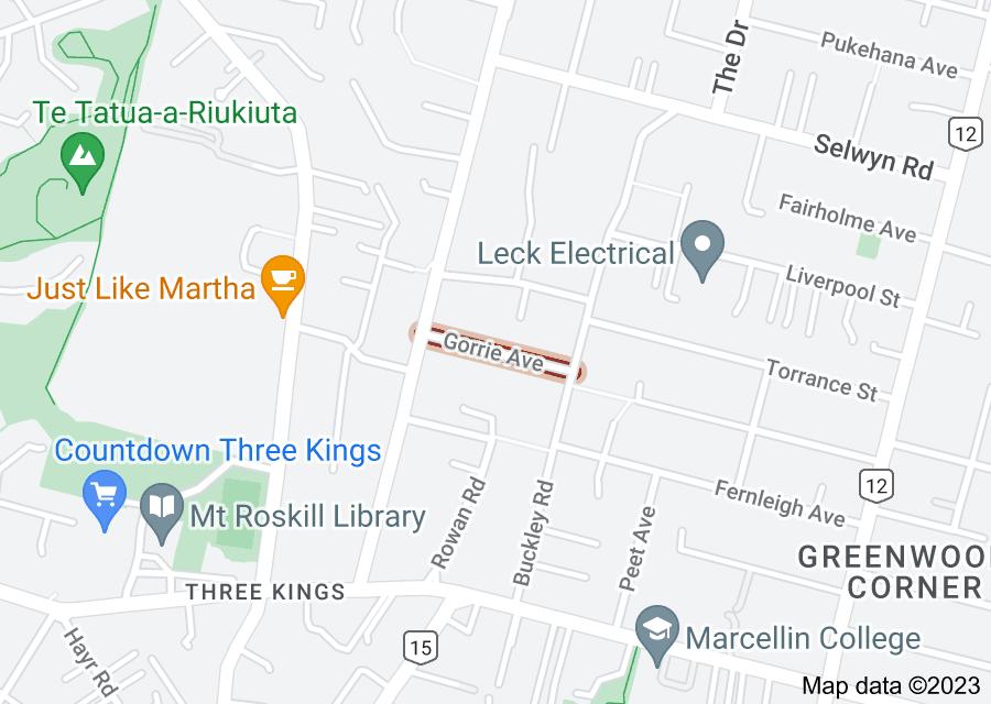Location of Gorrie Avenue