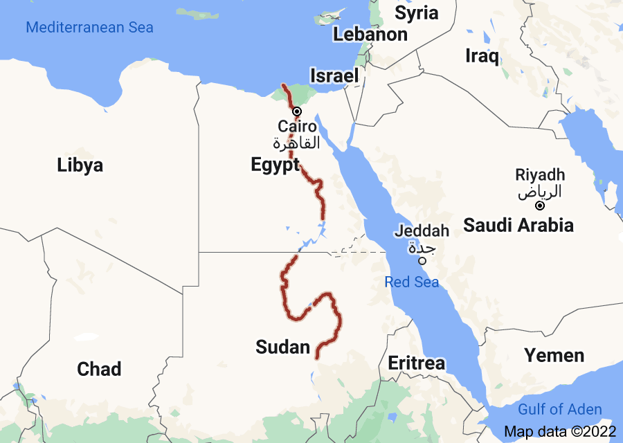 Location of Nile